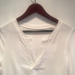 American Eagle long sleeve cotton t w/ beaded neck